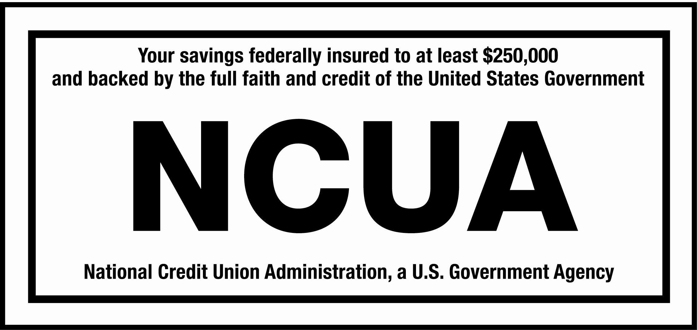 NCUA logo and statement